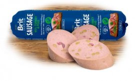 NEW Brit sausage turkey & pea 800g